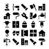 Iconos 4 del vector de la construcción Fotos de archivo libres de regalías