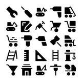 Iconos 1 del vector de la construcción Imagen de archivo libre de regalías