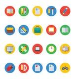 Iconos 1 del vector de la educación fotografía de archivo