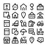 Iconos 3 del vector de la entrega de la logística Fotografía de archivo libre de regalías