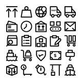 Iconos 8 del vector de la entrega de la logística Fotos de archivo libres de regalías