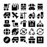 Iconos 2 del vector de la entrega de la logística Imágenes de archivo libres de regalías