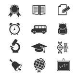 Iconos del vector de la escuela y de la educación Foto de archivo