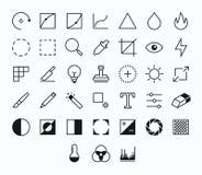 Iconos del vector de la fotografía Imágenes de archivo libres de regalías
