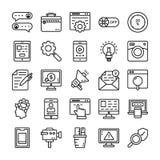 Iconos del vector de la interfaz de usuario ilustración del vector