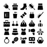 Iconos 6 del vector de la moda Imagen de archivo libre de regalías