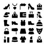 Iconos 3 del vector de la moda Fotografía de archivo