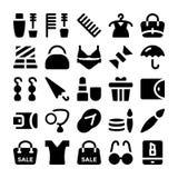 Iconos 11 del vector de la moda Foto de archivo libre de regalías