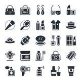 Iconos 1 del vector de la moda y de la belleza Fotografía de archivo
