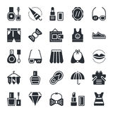 Iconos 4 del vector de la moda y de la belleza Imagen de archivo libre de regalías