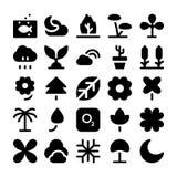 Iconos 5 del vector de la naturaleza Fotos de archivo libres de regalías