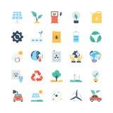 Iconos 1 del vector de la naturaleza y de la ecología Fotografía de archivo libre de regalías