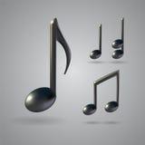 Iconos del vector de la nota de la música ilustración del vector