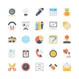 Iconos 3 del vector de la oficina y de los efectos de escritorio Imagen de archivo libre de regalías