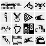 Iconos del vector de la raza fijados en gris Fotografía de archivo libre de regalías