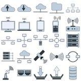 Iconos del vector de la red Fotografía de archivo libre de regalías