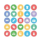 Iconos 3 del vector de la ropa Imagen de archivo libre de regalías