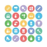 Iconos 5 del vector de la ropa Fotografía de archivo libre de regalías