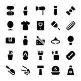 Iconos 6 del vector de la ropa Imagen de archivo libre de regalías