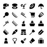 Iconos 15 del vector de la ropa Fotos de archivo