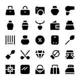 Iconos 17 del vector de la ropa Foto de archivo libre de regalías