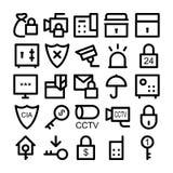 Iconos 3 del vector de la seguridad Foto de archivo libre de regalías