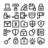 Iconos 4 del vector de la seguridad Foto de archivo libre de regalías