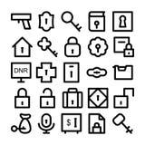 Iconos 1 del vector de la seguridad Fotos de archivo