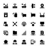 Iconos 3 del vector de la tecnología de red fotos de archivo