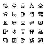 Iconos 4 del vector de la tecnología de red Imágenes de archivo libres de regalías