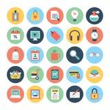 Iconos 4 del vector de las compras Fotografía de archivo