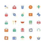 Iconos 5 del vector de las compras Foto de archivo libre de regalías