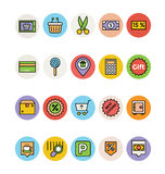 Iconos 3 del vector de las compras Imagen de archivo libre de regalías