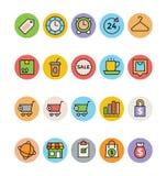 Iconos 2 del vector de las compras Imagenes de archivo