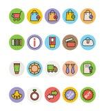 Iconos 4 del vector de las compras Fotografía de archivo libre de regalías
