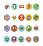 Iconos 1 del vector de las compras Foto de archivo