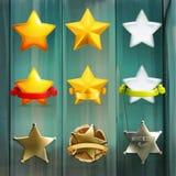 Iconos del vector de las estrellas ilustración del vector