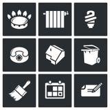 Iconos del vector de las utilidades fijados Foto de archivo libre de regalías