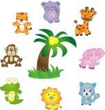 Iconos del vector de los animales fijados Fotos de archivo