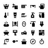 Iconos 10 del vector de los aparatos electrodomésticos Fotografía de archivo libre de regalías