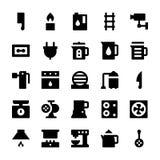 Iconos 6 del vector de los aparatos electrodomésticos Imagen de archivo