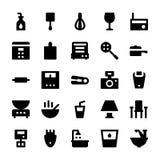 Iconos 8 del vector de los aparatos electrodomésticos Fotografía de archivo libre de regalías