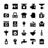 Iconos 2 del vector de los aparatos electrodomésticos Imagenes de archivo