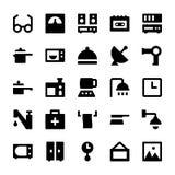 Iconos 4 del vector de los aparatos electrodomésticos Foto de archivo