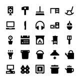 Iconos 5 del vector de los aparatos electrodomésticos Fotos de archivo libres de regalías