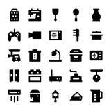 Iconos 7 del vector de los aparatos electrodomésticos Fotografía de archivo libre de regalías