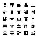 Iconos 9 del vector de los aparatos electrodomésticos Foto de archivo libre de regalías