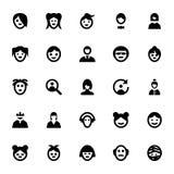 Iconos 2 del vector de los avatares de la gente Fotos de archivo
