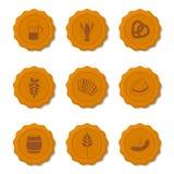 Iconos del vector de los casquillos de la cerveza Fotografía de archivo libre de regalías
