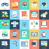 Iconos 3 del vector de los conceptos del negocio Imagen de archivo libre de regalías